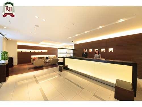 ■フロントとラウンジ■お客様とフロントスタッフの会話が飛び交う、憩いの空間です。