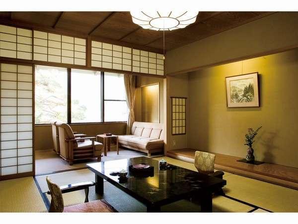 【景山荘】飛騨の山並みと源泉掛け流しの展望風呂を楽しむお部屋