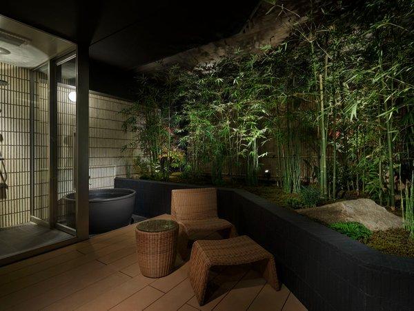 ラグジュアリールーム ‐MIYABI‐信楽焼の露天風呂付き-専用庭付き(竹林)(41.5㎡)