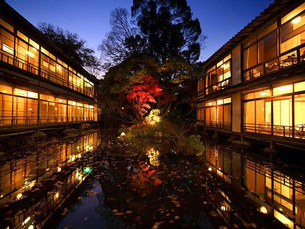 池泉庭園 華の池の夜景