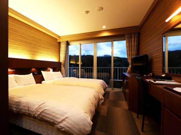洋室スタンダードツインルーム★おしゃれなモダンデザイン♪ふかふかベッドはシーリー社のマットを採用!