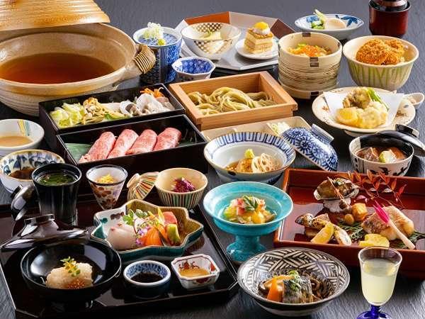 【ご夕食】ご夕食は「和食会席」メイン新潟の地酒を使った「越後地酒鍋」をご用意♪