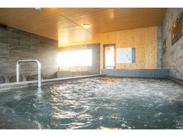 【大浴場 開聞】バイブラバス源泉とバイブラ気泡でマッサージ効果が期待できます
