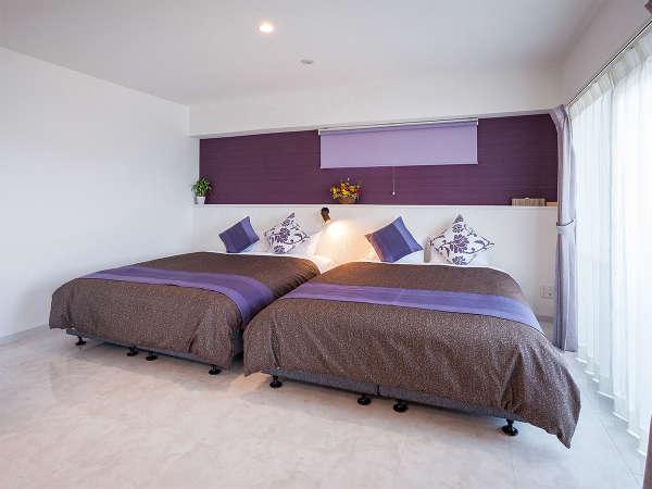 【サンライズスイート】最上階54㎡ ベッドルームは2つあり5名様ご宿泊可。