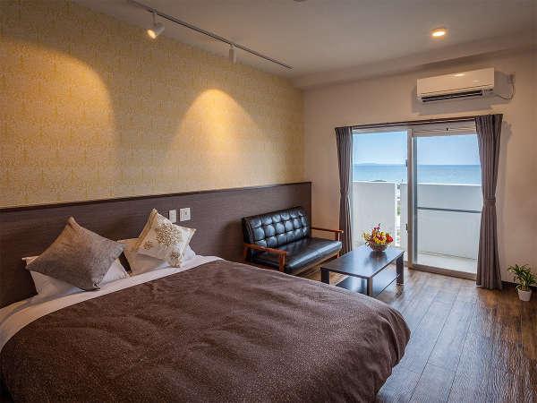 【ダブルルーム 27㎡】お二人でゆったりお過ごしいただけるお部屋。ベッドは1400mm幅をご用意。