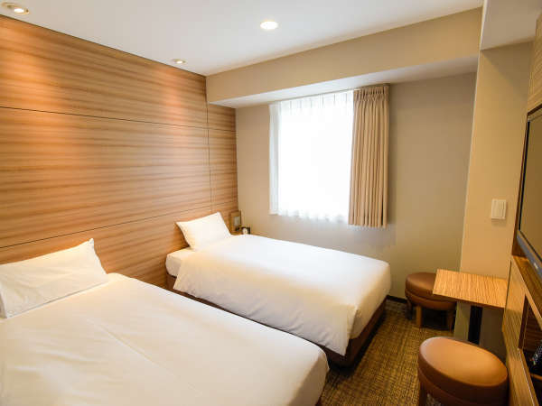 コンパクトサイズのエコノミーツイン 14㎡ ベッド幅100cm