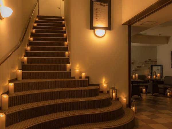 全館ロマンティック灯彩点灯。館内いたるところにキャンドルライトが揺らめいています☆彡