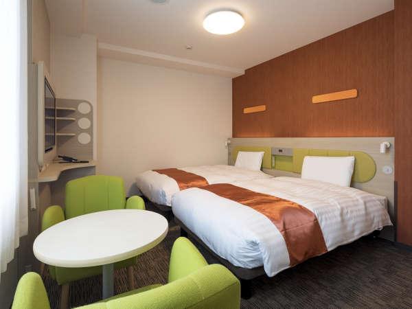 ◆ツインスタンダード1◆21平米◆ベッド幅123cm×2台◆