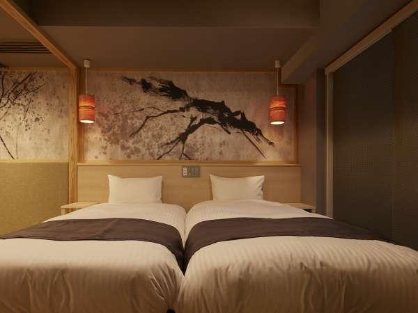 どちらの客室も和モダンなデザインとなっております