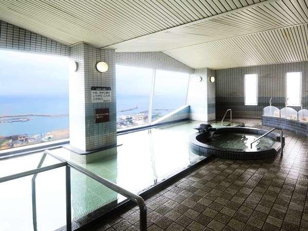 最上階にある、展望パノラマ大浴場