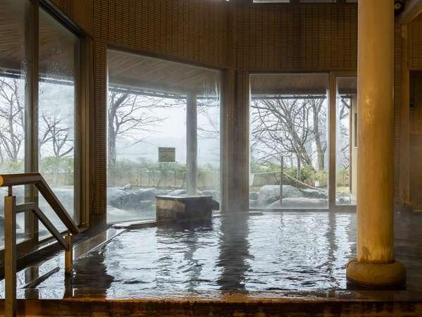 大浴場内風呂 源泉かけ流し天然温泉。鉄味を多く含んでおり、体の芯から温まります。
