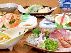 浜茄子自慢の海の幸をどうぞ【食事一例】