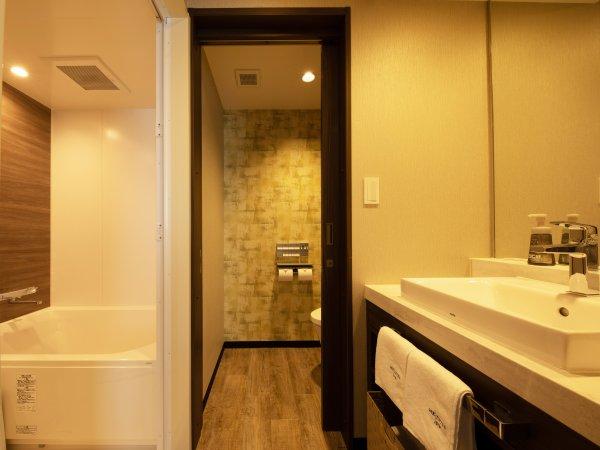 ツインルームはトイレとバスがセパレートタイプ。
