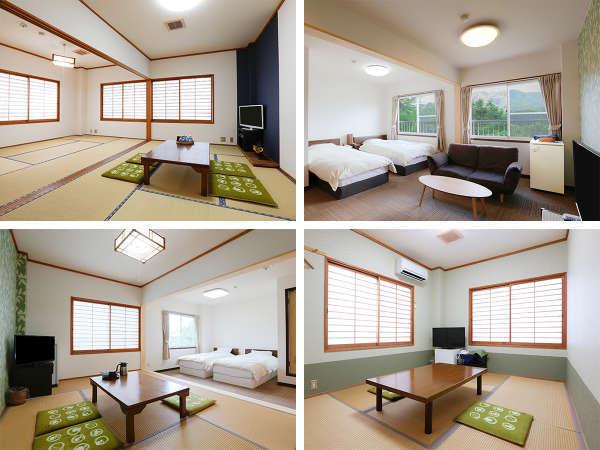 ツイン ・ 和室 ・ 和洋室 ・ 角部屋から選べる7タイプの客室