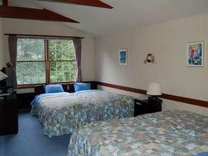3人グループや4人家族にお薦めの大きめのお部屋です。2部屋しかないのでご予約はお早めに!