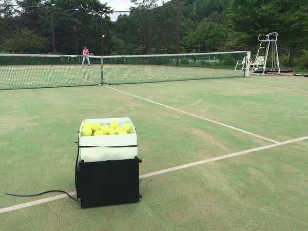 ボールマシンを使ってテニスレッスンはいかが?