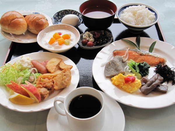 朝食バイキング盛付例