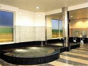 別棟のサウナ付温泉大浴場「美人の湯」