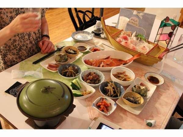6月の夕食メニュー1例