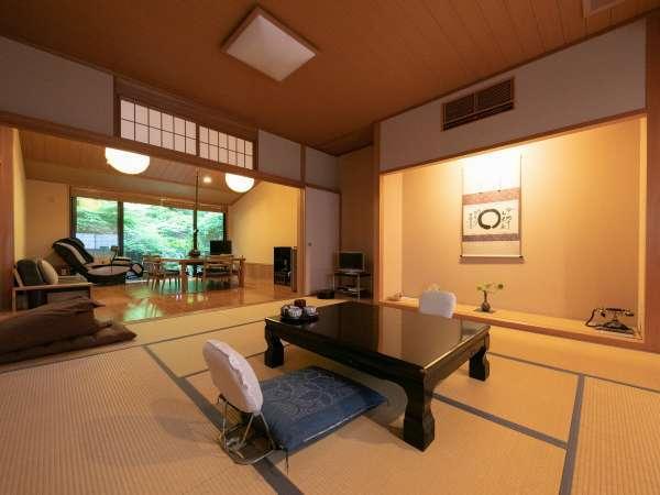 ◆椿館-特別室-◆和室にリビングが併設した特別室がございます。