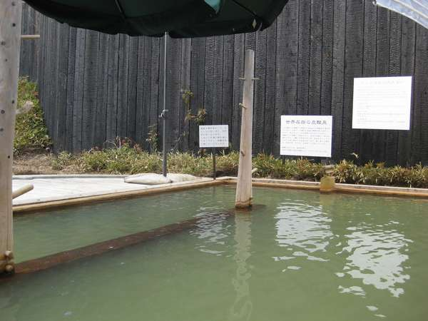 外湯 ラムネ温泉 湯に浸かると銀の泡がからだを包む