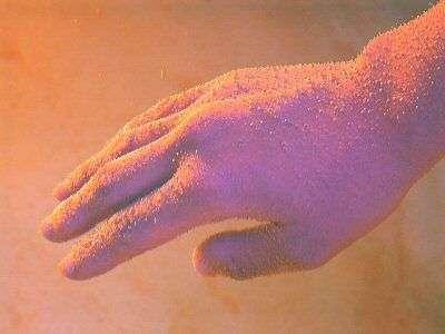 ラムネ温泉にその身を浸すと銀色の泡がつく