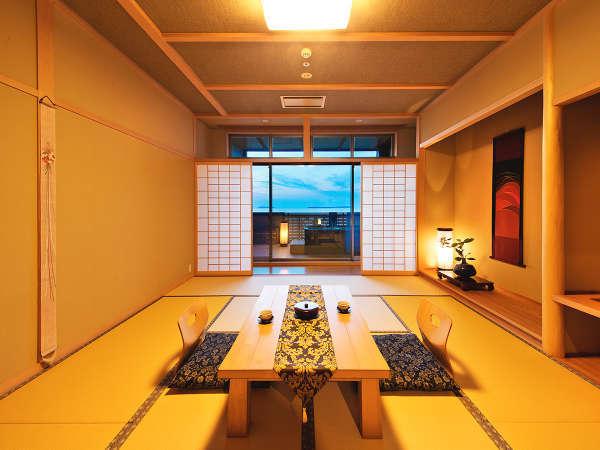 ◆露付和室◆自家源泉の温泉をいつでも満喫できる、プライベート露天風呂付き