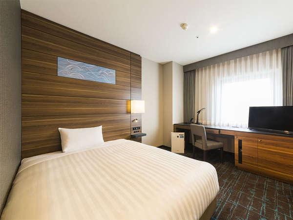 【客室】シングルルーム・部屋広さ…16㎡・宿泊人数…1~2名・ベッド幅…140cm