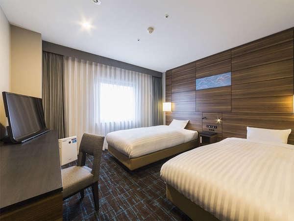 【客室】ツインルーム・部屋広さ…20㎡・宿泊人数…1~2名・ベッド幅…120cm