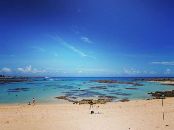 通称「ブルーエンジェル」、奄美でいちばん美しいといわれる土盛海岸も徒歩圏内。