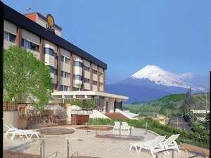 天気が良い日には富士山が見えます。
