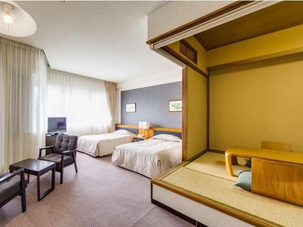 【和洋室】6畳間+2ベッド。広さ43㎡の客室をご用意