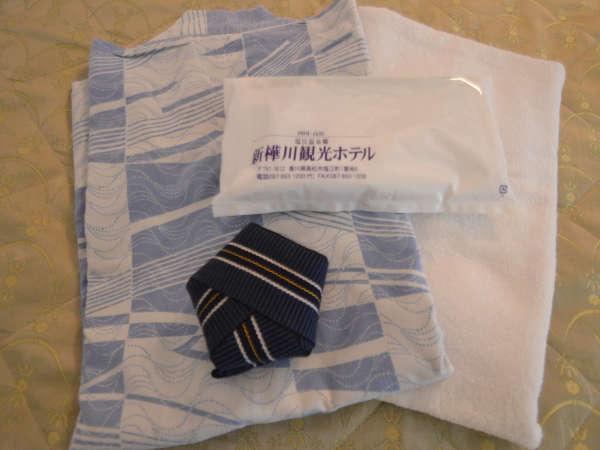 【アメニティ】お部屋に浴衣、タオル、歯ブラシなどご用意しています。