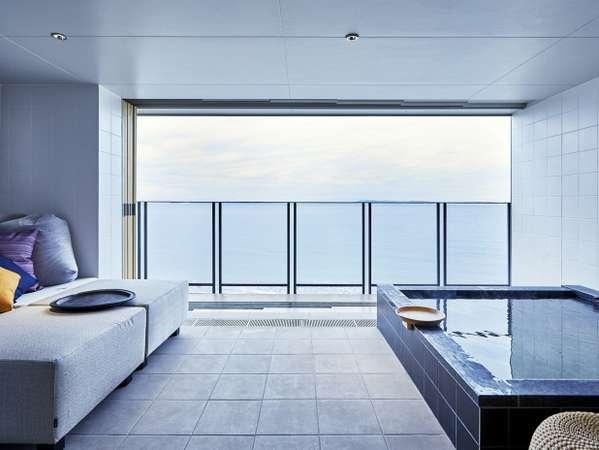 【客室専用露天風呂】東京湾と富士山を望む露天風呂付オーシャンビュー