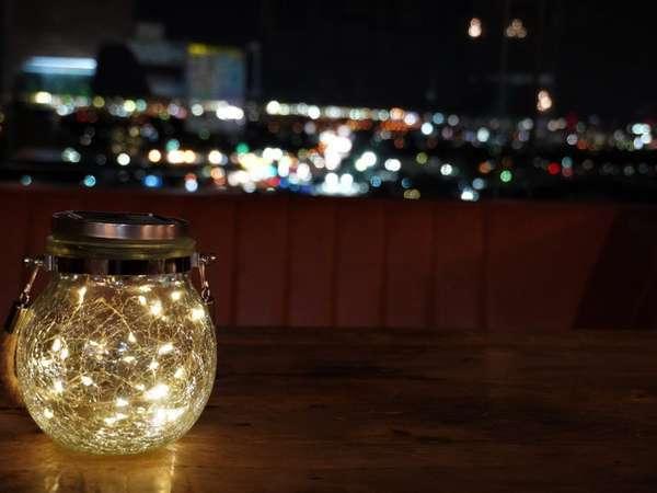 ロビーで夜景…♪