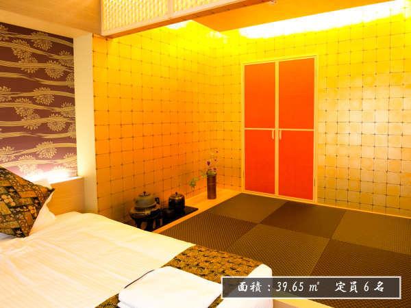 【1002号室/インスタで話題の黄金の茶室をイメージしたスイートルーム/6人宿泊可能】