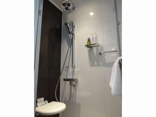 エリートシングル  リラックス効果のあるレインシャワー付きのシャワールームのみ【対象客室】①②