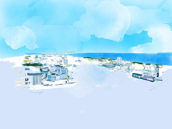 客室からは北谷の街並み、壮大な東シナ海のパノラマが一望。刻一刻と表情を変える海と空をご堪能下さい。