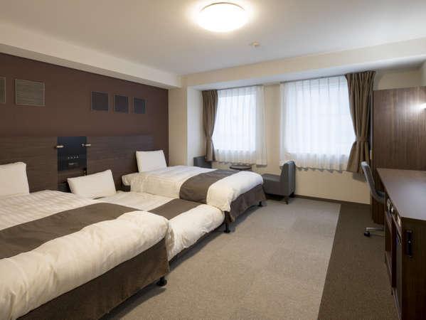 ◆ツインスタンダード2◆約29平米、123cm幅ベッド×2台◆エキストラベッドも設置可能◆