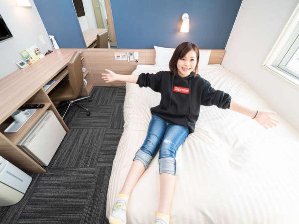 *セミダブルルーム・2名様まで入室可能<1500×2000>幅広タイプでゆっくり快眠♪*