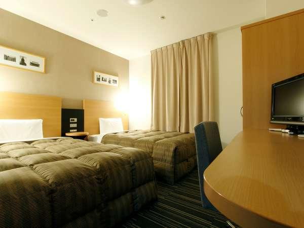 □ツインエコノミー□ベッド幅123センチなので添い寝でも利用可能♪