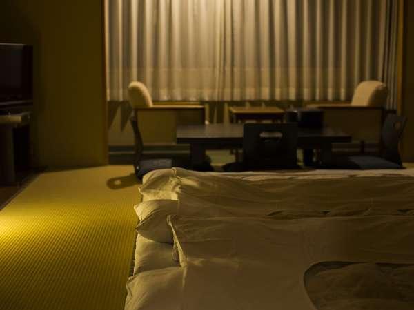 4名様定員の「和室」一例。お子様連れのご家族にもおすすめのお部屋です(3階でのご用意となります)。
