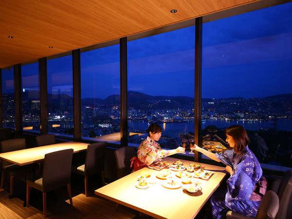 夜景を見ながら ゆっくりとお酒やお料理を楽しもう!