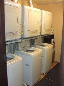 2階に洗濯機と乾燥機完備☆24時間利用可能です。