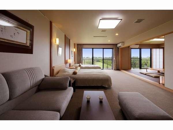 広々と使用できる和洋室のガーデンツイン。お部屋は1階のみ。