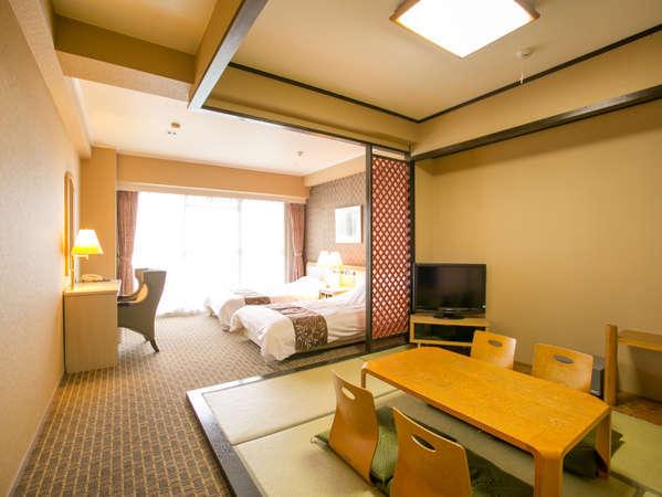 38平米の和洋室です。たたみもあり、お子様連れでも安心してご利用頂けます。