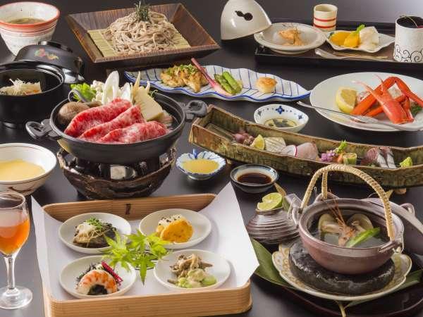 【夕餉~旬替わり会席~】日本海の海の幸を存分にご堪能頂けます♪※イメージ