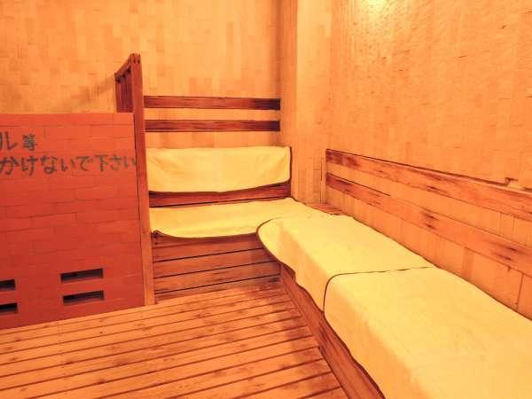 *大浴場サウナ/男女別に2種類のサウナを完備。しっかり汗をかいて1日の疲れをリフレッシュできますよ。