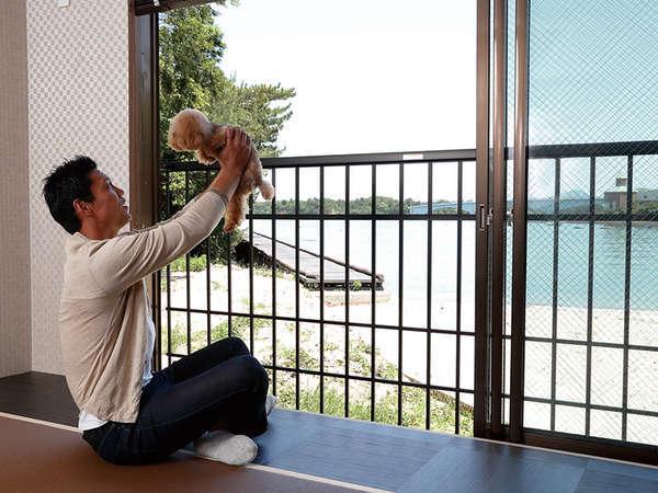 全室オーシャンビュー!ペットと一緒に海を眺めながら癒しのひと時を。
