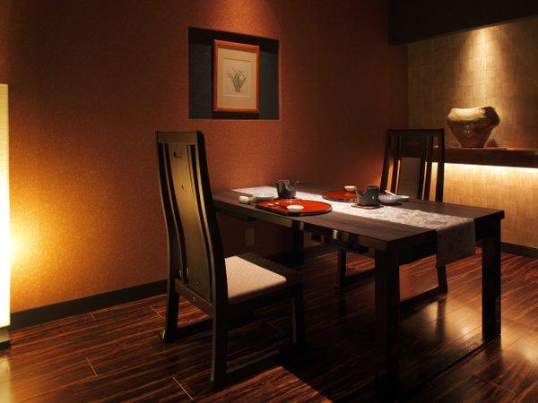 お食事は個室料亭で、お客様だけのプライベート空間